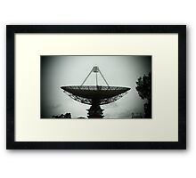 Pinhole Dish Framed Print