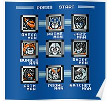 Transformers Megaman Style Design (Autobot) Poster