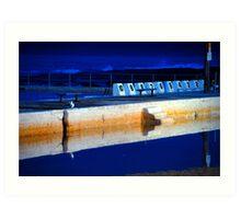 Sunrise - Merewether Baths Art Print