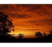 sunset #24, big red Photographic Print