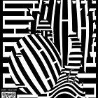 Punk Monkey Maze in optical art style  by Elenapinker