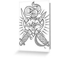 dagger heart Greeting Card