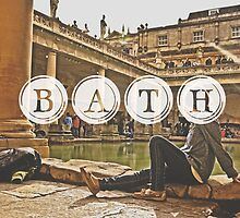 Bath Typography Print by Simone Anderson