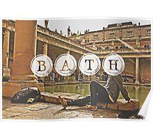 Bath Typography Print Poster