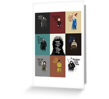 Game of Quotes- Series 1 Greeting Card