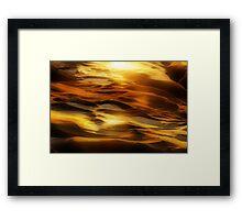 Rock Waves Framed Print