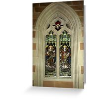 Stained Glass Window - St.David's Anglican Cathedral, Hobart Greeting Card