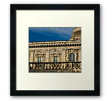Windows of the Benedettini convent in Catania  Framed Print