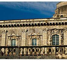 Windows of the Benedettini convent in Catania  Photographic Print
