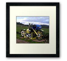 Motorbike Letterbox Framed Print