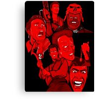 multiple Ash evil dead army of darkness collage Canvas Print