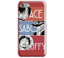 ASL - Ace Sabo Luffy - Brothers  iPhone Case/Skin
