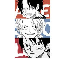 Ace Sabo Luffy - ASL  Photographic Print