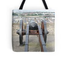 Looking Down a Cannon Tote Bag