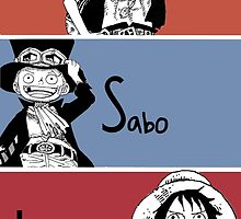 ASL, Ace, Sabo, Luffy, Brothers.  by NomadSenpai