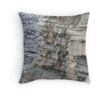 Erosion at Widemouth Bay Throw Pillow