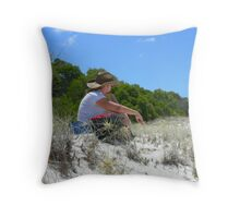 Day dreaming amongst the Spinafex Throw Pillow