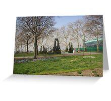War Memorial battery park Greeting Card