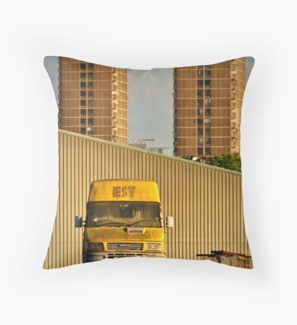 2012 London Olympic Pre-Demolition Yellow 2 Throw Pillow