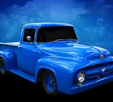Blue F Truck by Keith Hawley