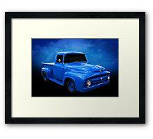 Blue F Truck Framed Print