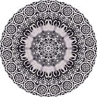 Black & White Tangle Drawing Kaleidoscope 01 by fantasytripp