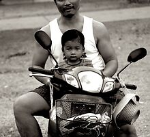 Father Son Motorcycle by ClockworkMemory