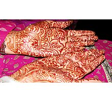 Henna at the Wedding Photographic Print