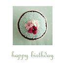 birthday cupcake by bunnyknitter