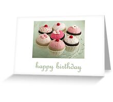 knitted cupcakes Greeting Card