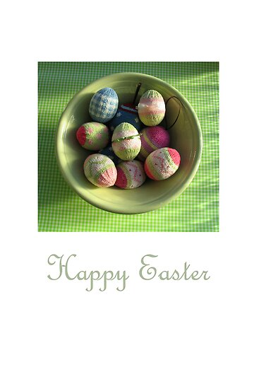 happy easter by bunnyknitter