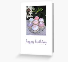 knitted flower cakes Greeting Card