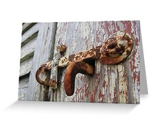 Rust Bolt Greeting Card