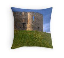 Castle Mound: City of York UK Throw Pillow