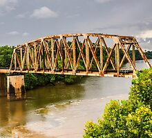 Rusty Old Railroad Bridge by Sue Smith