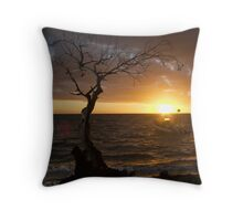 Sunset back at the hotel, Isle des Pins, New Caledonia Throw Pillow