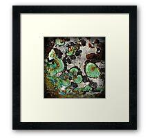 "Radiating Malachite ""Fans"" Framed Print"