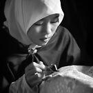 Batik Painter by Mieke Boynton