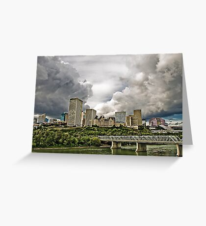 Summer Storm Over Edmonton Greeting Card