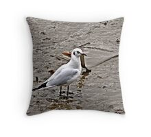 The Mud flats of the Truro river. Throw Pillow