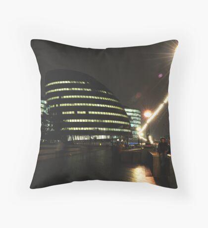 City Hall at Night Throw Pillow