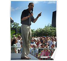 Barack Obama's message Poster