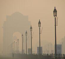 monument in the mist by Sanchita  Mukherjee