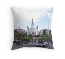 Jackson Square Cathedral Throw Pillow