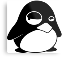 TUX Penguin in a bad mood, LINUX Metal Print