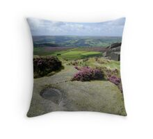 View from Stanage Edge Throw Pillow