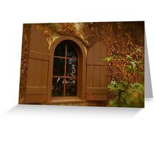 Window and Shutters Greeting Card