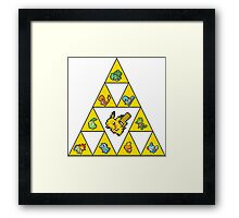 Tri-by-Tri-Force of Pokémon Gen's 1-3 Framed Print