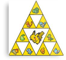Tri-by-Tri-Force of Pokémon Gen's 1-3 Metal Print