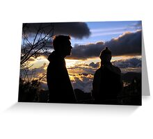 Sunset with friends Greeting Card